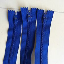 5 x 50cm ROYAL BLUE YKK nylon dress ZIPs ZIPPERs (#237)