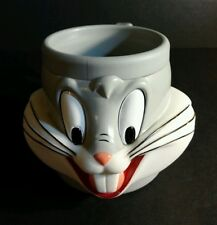 Bugs Bunny 3D Mug Kids Cup 1992 Warner Bros Looney Tunes Promo Soup Cereal