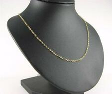 9Ct  Gold Chain Trace Link  24 Inch Long Necklace  Hallmarked Presentation box