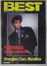 Revue BEST Décembre 1984 Pat Benatar Stranglers Metallica