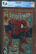 3- 1990 SPIDERMAN #1 BASE SILVER GOLD CGC 9.6 SET WHITE PAGES BRAND NEW CASES