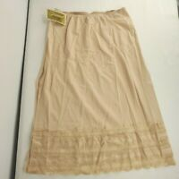 Vintage 60s Gossard Nylon Lace Half Slip Beige Nude Size Petite Small New