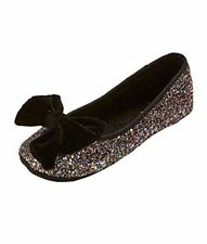 KATE SPADE NEW YORK S182235 SUSSEX GLITTER BALLET SLIPPERS Multi Glitter Bow 6M
