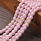New Arrival 30pcs 9X7mm Teardrop Shape Loose Spacer Glass Beads Light Pink