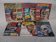 Horror Monsters MAGAZINE LOT 7 Issues! 1963-1964 Lugosi! Charlton Comics (m 1165