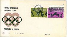 Mexico Cover Sports Postal Stamps