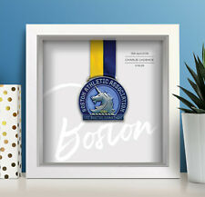 Boston Marathon Personalised Medal Frame (script) - A unique gift!