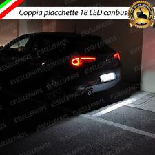 COPPIA PLACCHETTE / PLAFONIERE 18 LED LUCI TARGA CANBUS GIULIETTA BRERA