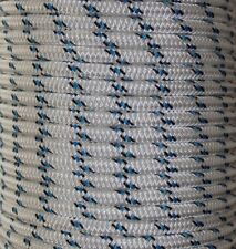 10mm x 35m Polyester Rope Double Braided White Black Blue Yacht Sailing Mooring
