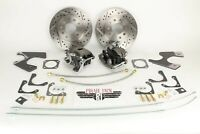 1968-1969 Camaro Rear Disc Brake Kit Staggered Shock Drilled/ Slotted Rotors