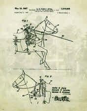 Horse Rodeo Patent Poster Art Print Western Decor Cowboy Saddle Spurs PAT73