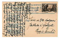 STORIA POSTALE 1934 REGNO MARCIA SU ROMA C.30 SU CART. PUBBLICITARIA Z/1942
