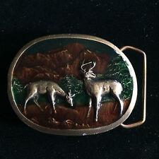 Indiana Metal Craft Deer Enameled Belt Buckle