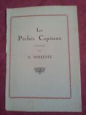 LES 7 PECHES CAPITAUX  illustrés par Willette