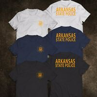 NEW Police Arkansas State Police Department Service Tee T-Shirt