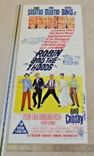 ROBIN AND THE 7 HOODS ORIGINAL DAYBILL CINEMA MOVIE POSTER 1964 Bing  Sinatra