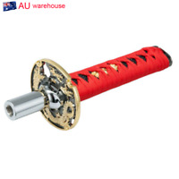 Universal Samurai Sword Shift Knob Metal Adapters15cm Car Styling Red 1Pcsx3Pcs