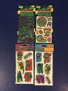 Vintage 1990 Teenage Mutant Ninja Turtles  Stickers- Lot Of 4