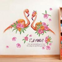 Pink Flamingo Wall Sticker Decal Kids Height Measure Growth Chart PVC Mural Art