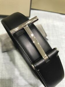 Authentic Tom Ford black reversible T-buckle logo belt(100% Authentic & New)