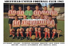 SHEFFIELD UNITED f.c.team stampa 1965 (Jones / HARTLE / birchenall / Richardson)