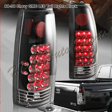 For 1988-1999 GMC C/K C10 1500 2500 3500 LED Black Housing Clear Lens Tail Light