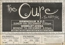 3/10/87PN43 ADVERT: SEE THE CURE LIVE THE KISSING TOUR DECEMBER87 7X11