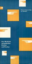"Otl Aicher VHS-Ulm ORIGINAL-Plakat 1951 ""Weltbild"" Design / Grafik / HfG"