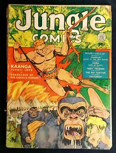 Jungle Comics #14 Incomplete from the John Celardo Fiction House collection