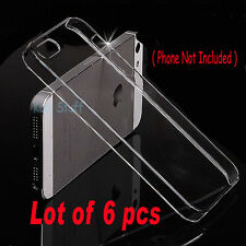 Lot of 6 pcs - Crystal Clear Hard Snap-On Case Cover for Apple iPhone 5 5G 5S
