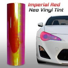"""12""""x60"""" Chameleon Neo Red Headlight Fog Light Taillight Vinyl Tint Film (g)"""