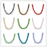 3x4mm New Faceted Crystal Glass 5040# Loose Rondelle Spacer Beads 71Colors