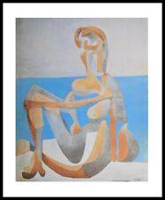 Pablo picasso baigneuse mine au bord de la mer poster art pression dans le cadre alu