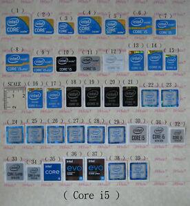 intel Core i3 i5 i7 CPU Sticker / Graphics Card Sticker / OS System Sticker