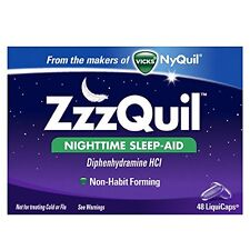 2 Pack - Zzzquil Nighttime Sleep-aid Liquicaps 48 Count Each