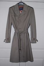NWOT CROYDON Canada Made Men's Size 42T Lined Trench Coat Raincoat Taupe Brown