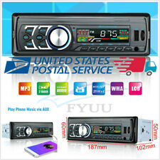 12V 1Din In-Autos Bluetooth Stereo Radio MP3 Player FM USB AUX TF 87.5-108.0MHZ