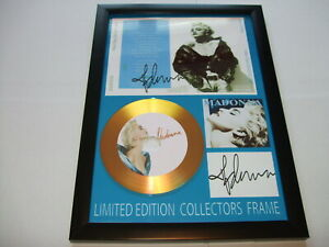 MADONNA   SIGNED GOLD CD   DISC   NEW 1