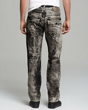 $228 True Religion Gray Jeans Ricky Straight Fit In Mineral Marble M088590KK9