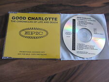 GOOD CHARLOTTE The Chronicles Of Life 2004 EURO Promo collectors CD album