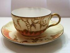 Limoges Phl France Tea Cup Saucer Fine Bone China Vintage Rare/Unique