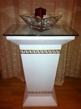Glas Beistelltisch Telefontisch Standsäule Blumensäule Versa Serie Blumenständer
