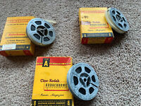 Lot Of 3 Vintage 8mm Home Movies. 1950s Estate Find L@@K! Parade, Washington Etc