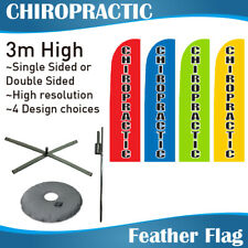 3m Outdoor CHIROPRACTIC Flag Banner Feather Flag with Base