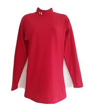 UNDER ARMOUR Cold Gear Women's Red Stretchy Long Sleeve High Neck Top.Size Large