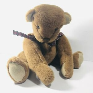 Vintage 1984 Vermont Teddy Bear Co Classic Jointed Plush Stuffed Animal Brown