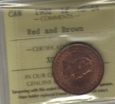 1902 Canada LARGE Cent Coin. ICCS MS-64 RED PENNY
