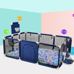 190CM Baby Playpen Child Play Mat Interactive Safety Gate Slide Fence Game Set