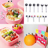 10PCS Lovely Eye Mini Food Fruit Picks Baby Kid Lunch Bento Tableware Forks