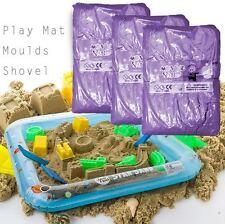11PCS Magic Motion Play Moving Sand 2kg Kids Moving Play Mat Mould Set PURPLE